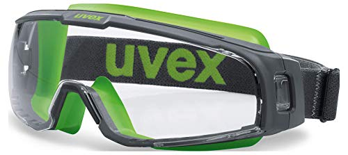Uvex U-Sonic Supravision Excellence Schutzbrille - Transparent/Grau-Lime