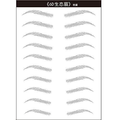 Augenbrauenaufkleber,Asudaro 3D Haarähnliche Augenbrauen Augenbrauen Schablonen,Eyebrow Sticker,Tattoo Semipermanenter Augenbrauenaufkleber Wasserdichtes,Einweg-Augenbrauenpflegetool für Frauen