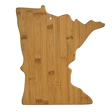Totally Bamboo Minnesota State Shaped Bamboo Serving and Cutting Board