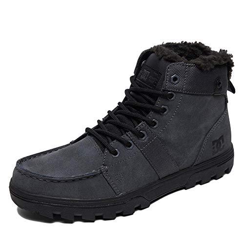 DC Shoes Herren Woodland - Sherpa Winter Boots for Men Schneestiefel, Grey/Black, 42 EU