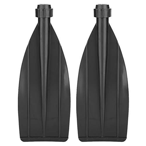 Jacksing Cuchilla de la Pala, Accesorios de reemplazo de Remo de la Hoja del Remo de la Hoja de la Pala de la Canoa del Kayak Duradero (Negro)