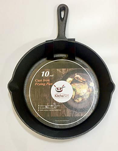 Kitchenet - Pre-seasoned 10 Inch Cast Iron Skillet