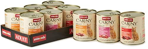 animonda Carny adult Katzenfutter, Nassfutter für ausgewachsene Katzen, Herzhafte Variation, 6 x 800 g