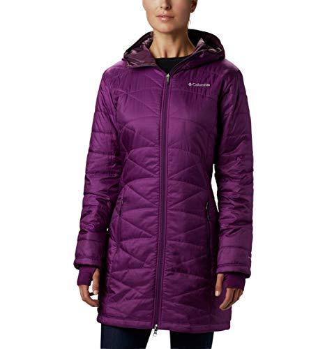 Columbia Women's Mighty Lite Hooded Jacket, Wild Iris, Large