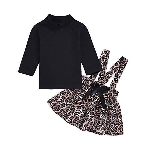 DaMohony 2-delige kledingset voor baby's, meisjes, jurken met rok en overhemd, lange mouwen, bloemenrok voor lente zomer voor meisjes 6-36 maanden