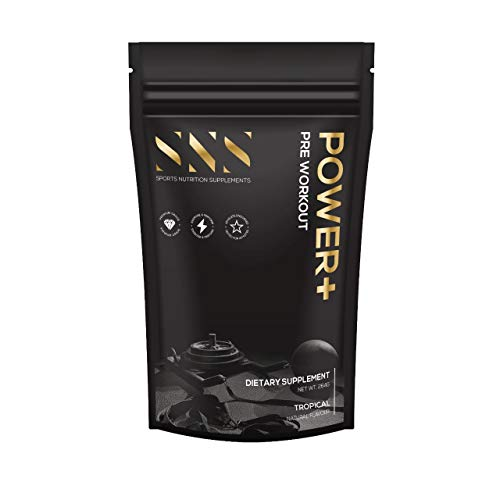SNS Power + Pre-Workout Energy Powder | Supplement with L-Citrulline, Beta Alanine and Phenylalanine Amino Acids | Vitamin C | Caffeine | Focus Supplement | 20 Servings (Tropical)