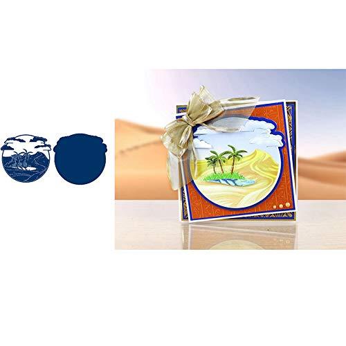 YUANRUI The Oasis - Fustelle in metallo per fai da te, scrapbooking, biglietti, goffratura, decorazione