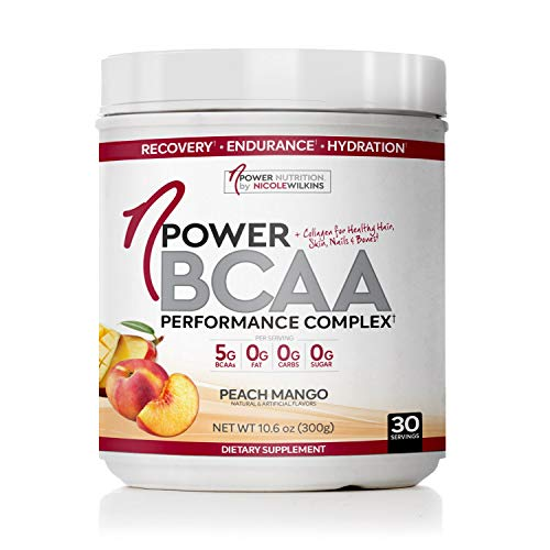 nPower Nutrition BCAA Powder with Collagen, Peach Mango, Workout Recovery Drink for Lean Muscle Growth and Muscle Recovery, 5g BCAA, 1000mg Collagen, 10.6oz Tub Indiana
