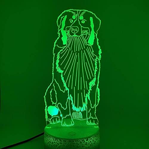 Lámpara de ilusión 3D luz de noche LED LED Lámpara de perro Lámpara de perros Visual Tabla visual Cumpleaños Cumpleaños Sala de regalo Decoración Festival de iluminación