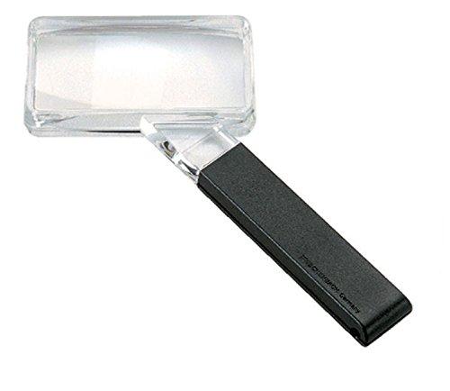 Biconvex Leselupe [Eschenbach 2642840] PXM®-Leichtlinse, DUPLEX-beschichtet für randscharfe, verzeichnungsfreie Abbildung, Abmessungen Linse: 80 x 40 mm, Vergrößerung: 2,25x, Dioptrie: 5