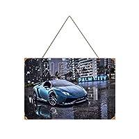 スピードヒートランボルギーニの必要性-iNeed for Speed Heat Lamborghin-i 木製のリストプラーク木の看板ぶら下げ木製絵画パーソナライズされた広告ヴィンテージウォールサイン装飾ポスターアートサイン