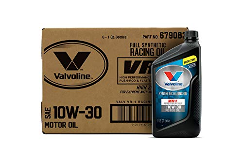 Valvoline VR1 Racing Synthetic SAE 10W-30 Motor Oil 1 QT, Case of 6