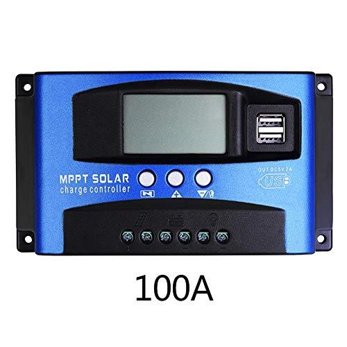 HEIRAO LCD Solar Controller für Blei-Säure-Batterien, MPPT mit Autofokus-Strom Hochleistungs-Lade- und Entladestrom-Anzeigefunktion, 30 A / 40 A / 50 A / 60 A / 100 A, 12 V oder 24 V adaptiv