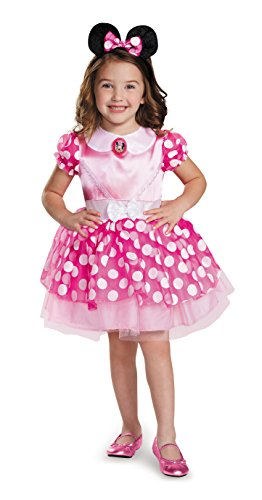 Disguise Disney Minnie Mouse Classic Tutu Girls' Costume, Pink, Small (2T)