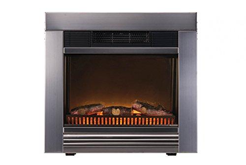 Classic Fire 'Chicago' Metall - Elektrischer Einbau-Ofen mit kamineffekt und Heizlüfter - 1800W