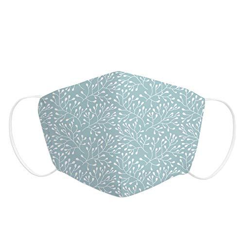 Pekebaby Pack 1 UD Mascarilla Adulto de tela lavable reutilizable 2 capas + bolsillo con 1 filtro incluido, diseño 019 TWIGGY, doble ajuste elástico