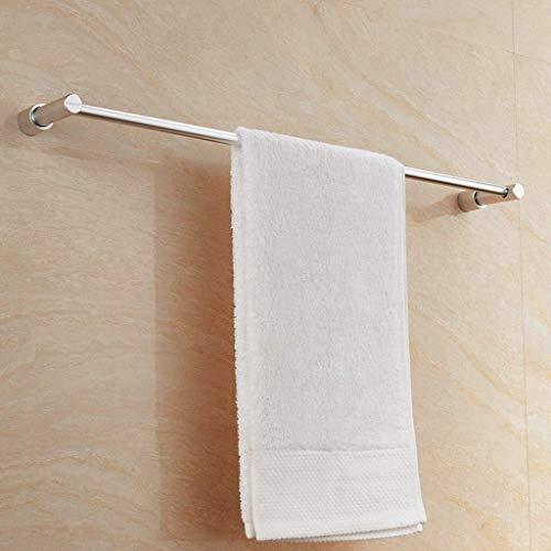 DNSJB Estantes de baño, toallero de aluminio, toallero, toallero de pared, soporte cromado, accesorio de baño redondo (tamaño: 400 mm)