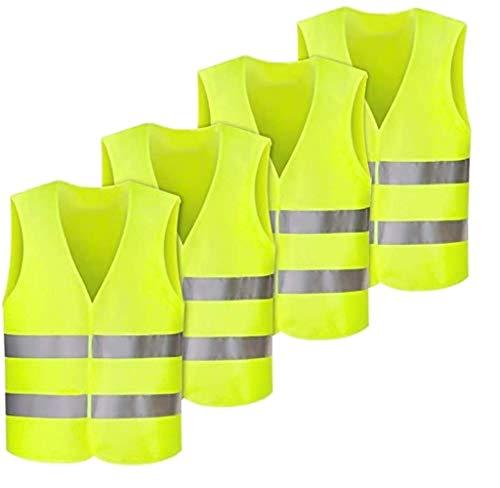 safeFit Warnweste Warnschutzweste Sicherheitsweste Pannenweste gelb - Set/Pack (25er)