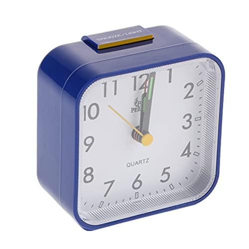 Reloj Despertador Reloj de alarma portátil que funciona con batería Reloj despertador con snooze y luz nocturna para la decoración de la oficina del dormitorio del hogar Despertador para niños