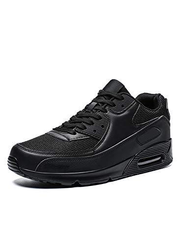 Zapatillas de deporte unisex con cojín de aire para deportes al aire libre, tenis casual, color Negro, talla 37 EU