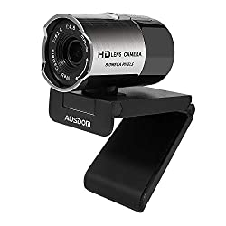 powerful AUSDOM AW335 1080P Full HD webcam with microphone, wide-angle USB webcam with manual focus …