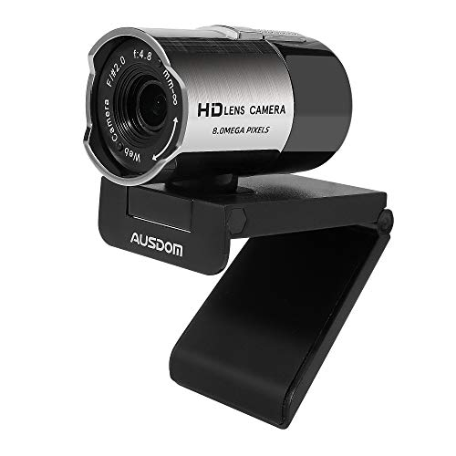 AUSDOM AW335 Webcam 1080P Full HD with Microphone, Manual Focus Wide Angle USB Web PC Cam for Video Chat/Recording on YouTube/Skype, Compatible with Windows 7/8 / 10 /XP/Chrome/Mac OS