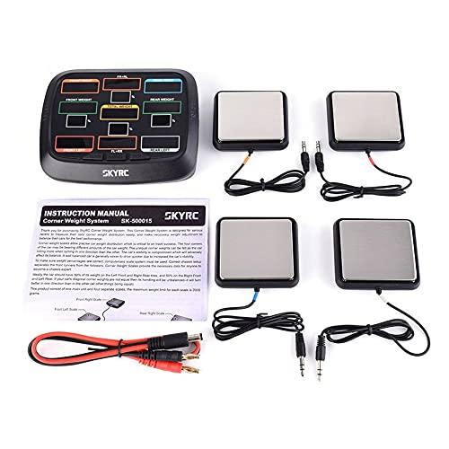 LeftSuper SKYRC SK-500015-01 Kit de configuración del Sistema de balanza de Equilibrio de Peso de Esquina para Buggy 1/8 y camión 1/10 Buggy y Touring Car