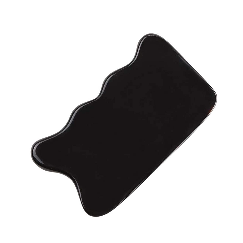 煙突感心する名誉あるMUOBOFU カッサ?マッサージ?美容器 スクレーパー 天然牛の角製 筋脈リラックス 個性logoカスタマイズ