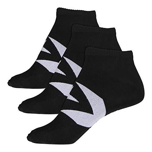 Converse Herren Socken Boom Star Chevron 3er Pack Füßlinge Größe 43-46 Schwarz