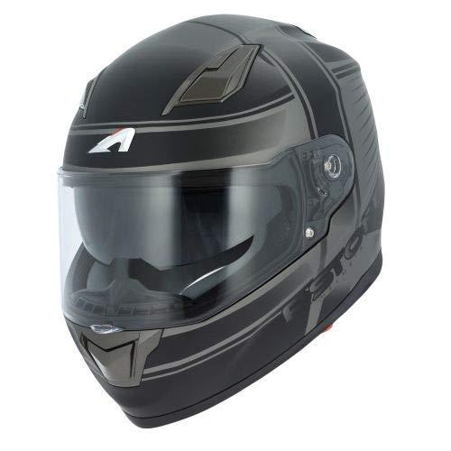 Astone Helmets - Casque de moto GT900 Corsa - Casque intégral large vision - Casque de moto intégral homologué - Casque de moto mixte en polycarbonate - Matt titanium L