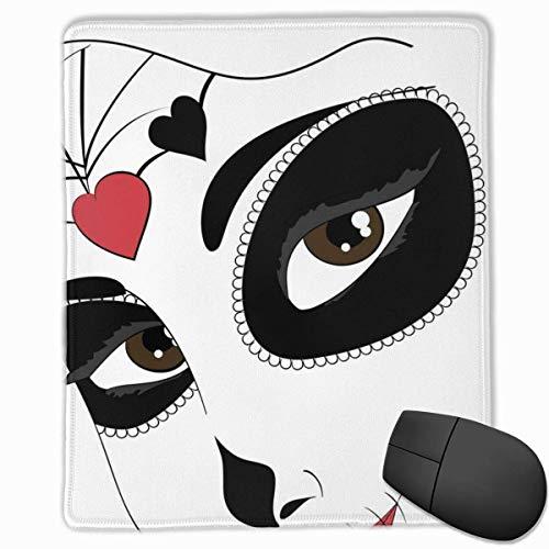 Mauspad Dia De Los Muertos Abstrakte Maske Mausmatte, genähte Kanten Gaming Mauspadmatte