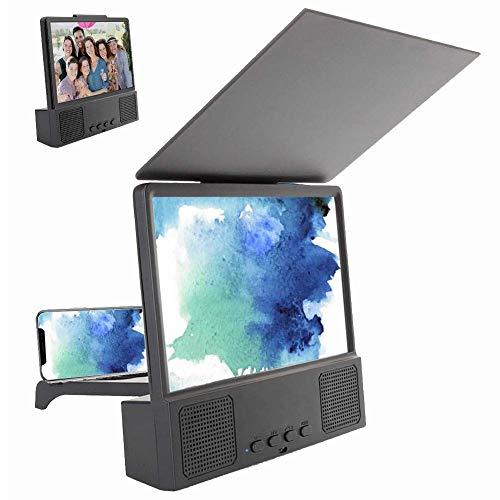 Dengofng Plegable Diseño 3D HD Teléfono Móvil Pantalla Lupa Amplificador Película Vídeo Teléfono Celular Ampliadora Pantalla Teléfono Proyector para Todas Teléfonos Smart Within 6inch Pantalla