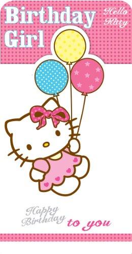 Hello Kitty Geburtstagskarte für Mädchen mit Luftballon