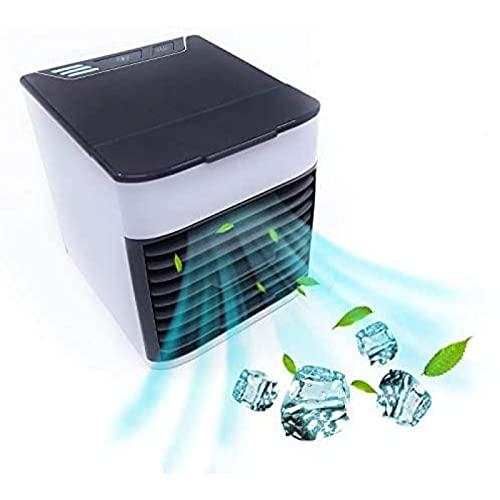 HZIXIXI Condizionatore da Tavolo - con Luci A LED A 7 Colori Condizionatore Camera, Protezione Ambientale Raffrescatore - per Camera, Ufficio, Cucina, Auto, Casa