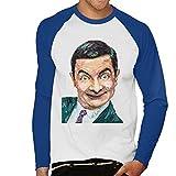 VINTRO Mr Bean Rowan Atkinson Camiseta de Manga Larga de béisbol para Hombres Retrato Original de Sidney Maurer