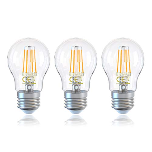 3Pack E27 A60 Bombillas LED Filamento 6W 810lm Edison Vintage Bombilla, Equivalente...