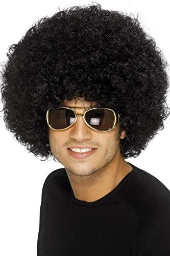 Smiffys Perruque afro funky des années 70, noire, 120g Unique
