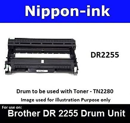 Nippon-ink DR2255 (Drum) For Brother Laser Drum - MFC 7240 7290 7360 7360N 7460DN 7470D 7860DN 7860DW HL 2220 2230 2240 2240D 2250 2250DN 2270DW 2280DW DCP 7060D 7065DN Intellifax 2840 2940 2950