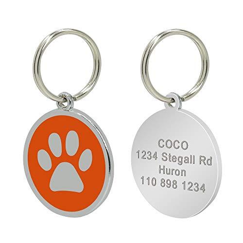 Placas para Perros 2 PCS Personalizado Personal Grabado Grabado Pet Pet Collar DE Perro Accesorios Personalizados Cat por PUPTY ID Etiqueta DE Acero Inoxidable Nombre Nombre Tags Pendiente ANTERIDO 2