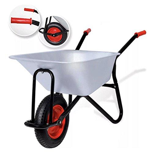 Grafner® Schubkarre | 85L | 150kg | vollverzinkt | für Garten, Bau und Stall Schiebkarre Bauschubkarre Transportkarre