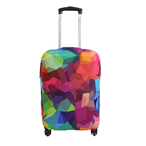 Explore Land Travel Luggage Cover Trolley Case Protective Cover Fits 18-32 Inch Luggage (S (18-22 inch Luggage), Geometry)