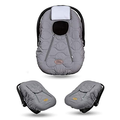 Cozy Cover Infant Car Seat Cover (Gray Quilt) - The Industry Leading Infant...