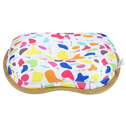 Bicaquu Laptop Table, Lap Table, Cloth Cover Beautiful Small in Size Laptop Cushion Desk, Soft Home for Outdoor Travel Office Staff Office(Rainbow Bars)