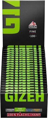 10 x GIZEH Black Fine Magnet einzeln 10x100 Blatt grüne Schrift