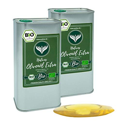 Azafran BIO Olivenöl Extra Nativ Arbequina aus Spanien Kanister 2L