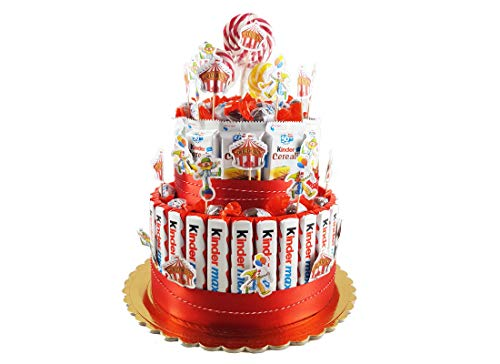 torta barrette Kinder temi vari - kit fai da te (KITKCIRCO01 circo)