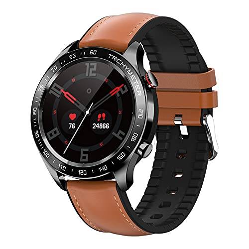 YDK Herren- und Frauen-Smart Watch R5 Herzfrequenz Blutdruckmonitor Fitness-Tracker-weibliche physiologische Erinnerung Smart Watch für Android iOS,B