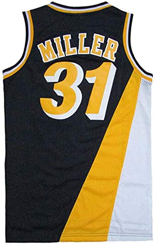 Men's Miller Shirts Jerseys 31 Basketball AdultSports Athletics Retro Reggie Blue,Blue,XXLarge