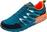 LEKANN 203 - Zapatillas de deporte para hombre, con amortiguación, tallas 47-50 EU, color Azul, talla 49 EU