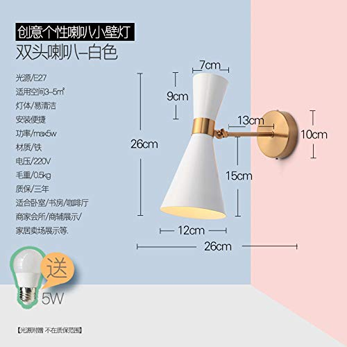 Spiegelfront - Moderne minimalistische wandlamp Nordic woonkamer slaapkamer creatieve slaapkamer badkamer LED schijnwerper badkamerspiegel badkamer badkamer badkamer